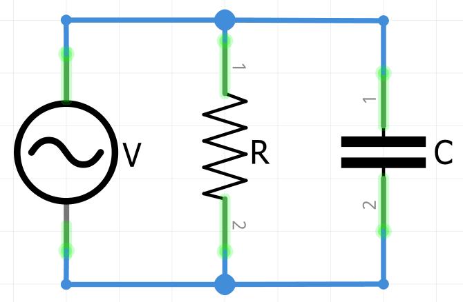 Conexion circuito RC en paralelo