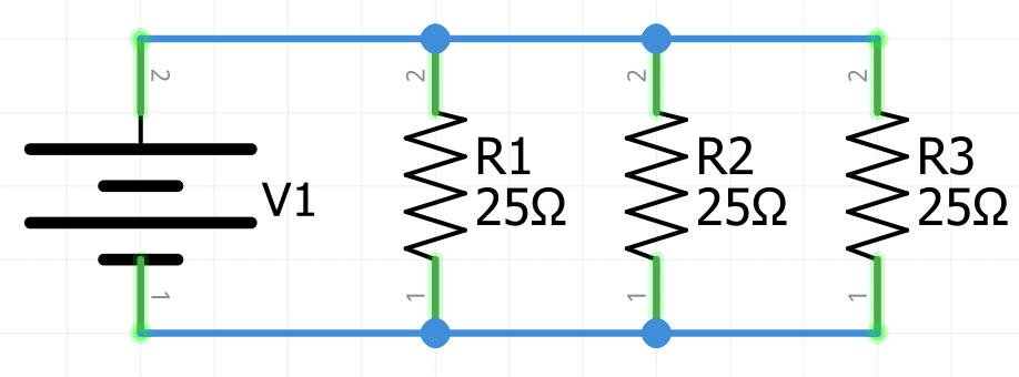 Resistencia equivalente paralelo con resistencias iguales