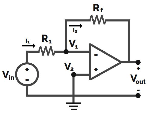 Amplificador inversor diagrama y características