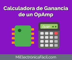 Calculadora de Ganancia Amplificador Operacional